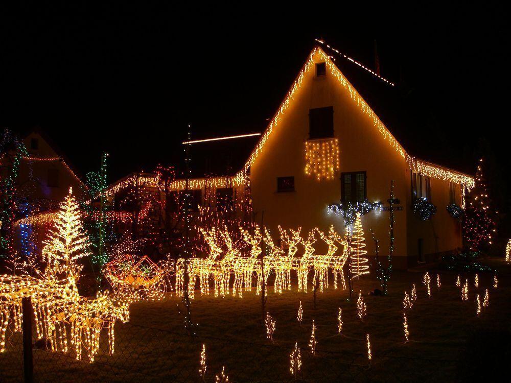 Amerikanische Weihnachtsbeleuchtung.Faszinierende Lichterwelt Zeitung Macht Schule Reutlinger