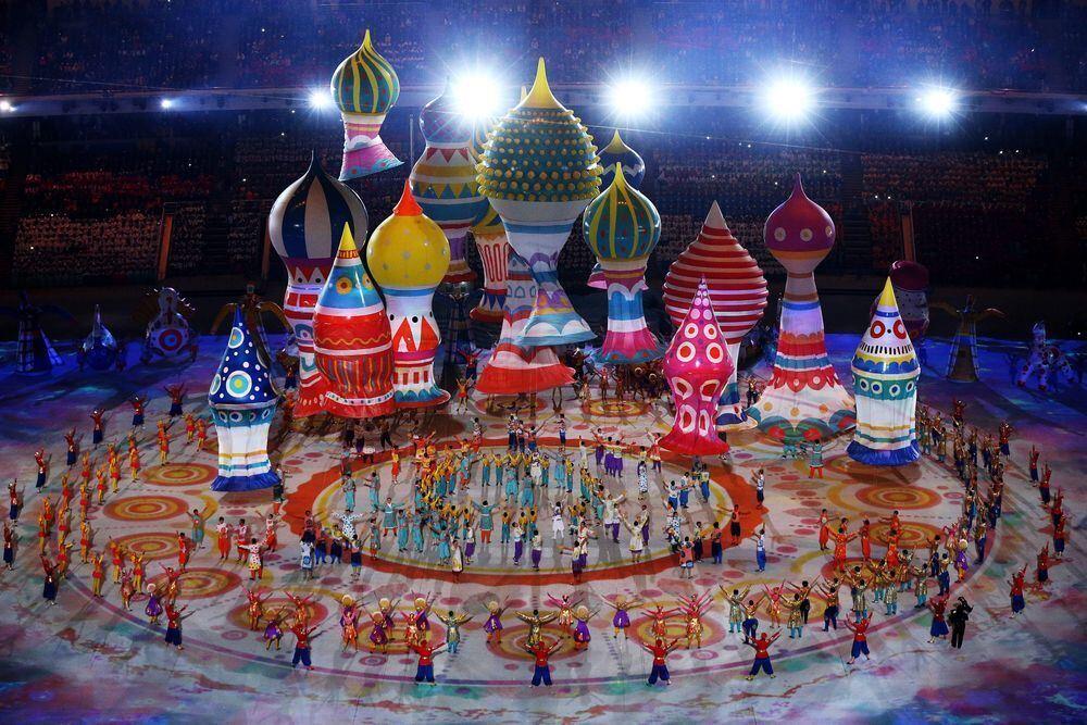 Olympische Winterspiele Sotschi 2014 Eröffnungsfeier Bilder