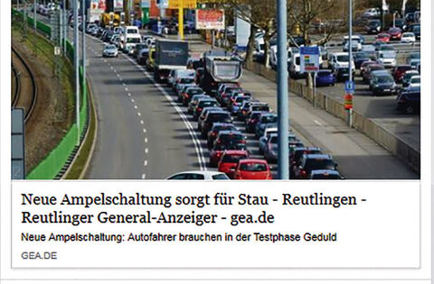 Was leser am ampelstau kritisieren reutlingen for Reutlinger general anzeiger immobilien