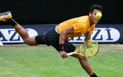 Felix Auger-Aliassime in Aktion