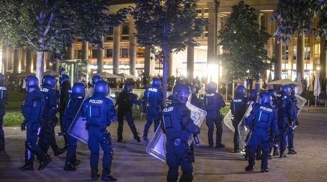 Stuttgart Polizei Randale