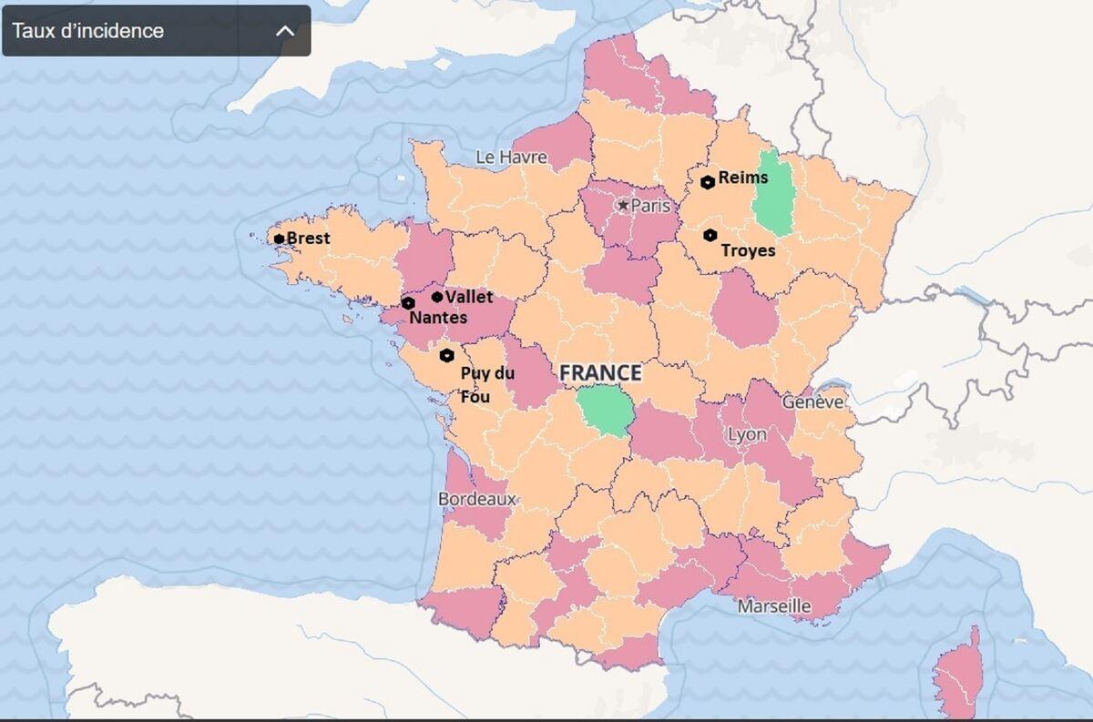 Corona Frankreich Karte Departement Aktuell