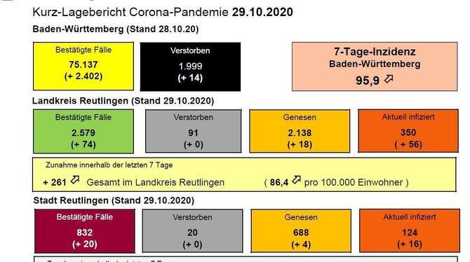 Wie Sich Die Corona Lage In Reutlingen Und Der Region Vom 24 Oktober Bis Zum 9 November Entwickelt Hat Reutlingen Reutlinger General Anzeiger Gea De