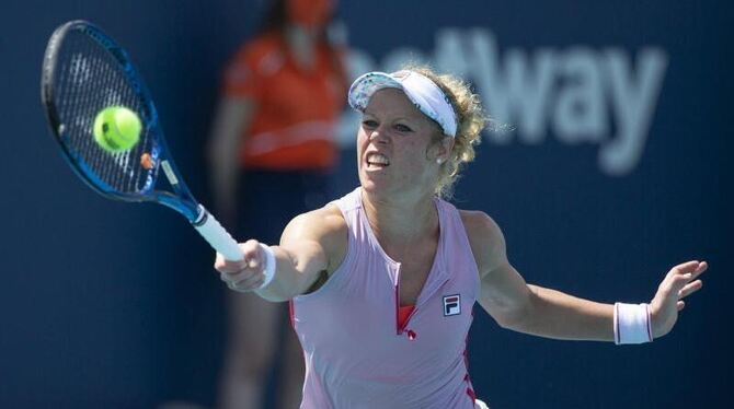 Laura Siegemund in Aktion