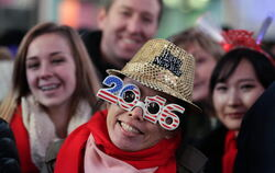 Ausgelassene Silvesterparty auf dem Times Square in New York.