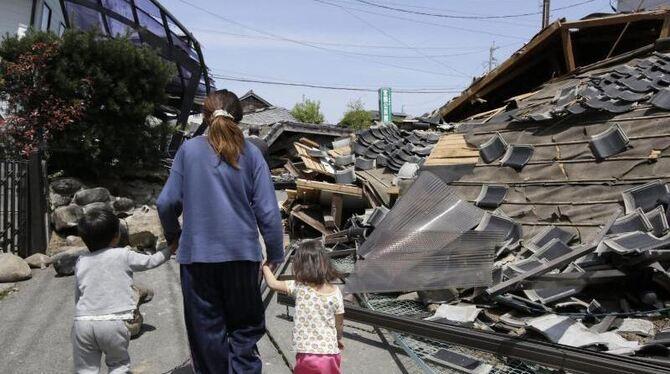 Erneut Starkes Erdbeben In Japan Mindestens 19 Todesopfer Weltspiegel Reutlinger General Anzeiger Gea De